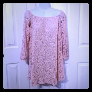 Free Press Womens lace tunic top Small offshoulder
